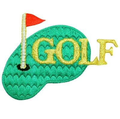 £2.36 • Buy Golf Applique Patch - Putting Green, Links, Golfing Badge 2.75  (Iron On)