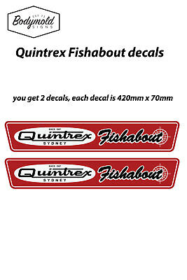 AU48 • Buy Quintrex Fish About Vintage Style Boat Decals