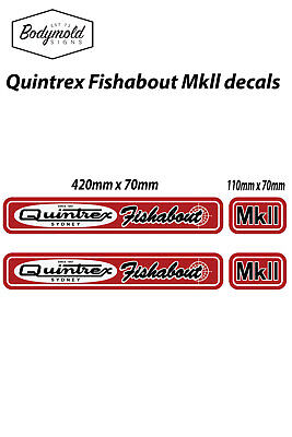 AU40 • Buy Quintrex Fish About Mk2 Vintage Style Boat Decals