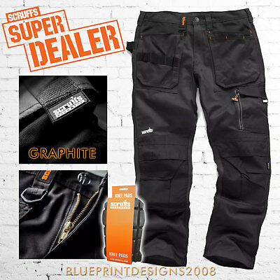 Scruffs 3D TRADE GRAPHITE Cargo / Combat Work Trousers With FREE KNEE PADS!! • 45.95£