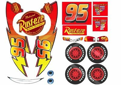 Disney Lightning McQueen Edible Cake Topper Labels/stickers For Car-shaped Cake  • 8.50£