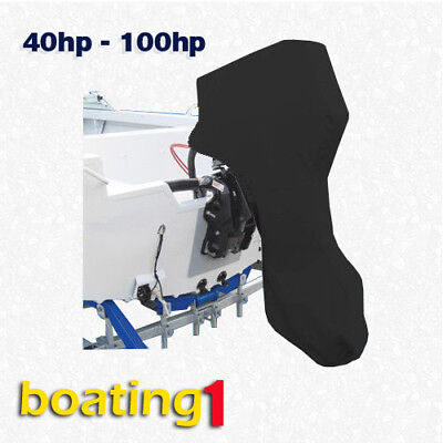 AU46.95 • Buy Full Outboard Boat Motor Engine Cover Dust Rain Protection Black - 40hp - 100hp