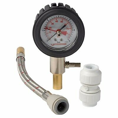 Rothenberger Dry Pressure Test Kit 0 - 6bar 15mm Push Fitting Rubber Dial Case • 33.99£