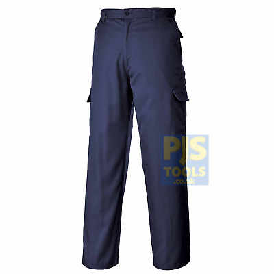 £17 • Buy Portwest C701 Combat Trousers Navy Or Black Cargo Work Pockets * Free Postage *