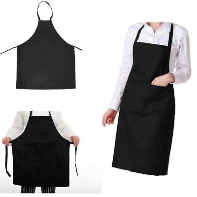 £3.29 • Buy Waterproof Chef Apron Black Catering Cooking Kitchen Butcher Unisex With Pocket