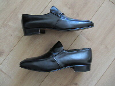 £95 • Buy Russell & Bromley MORESCHI Mens Shoes  UK 7.5/EU 41/ US 8.5  Black Leather