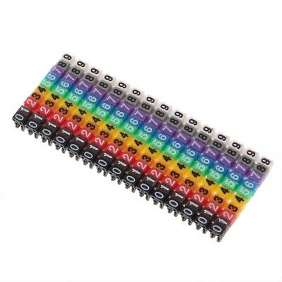 150 Pcs Cable Markers Colourful C-Type Marker Number Tag Label For Wire 2-3mm • 3.25£