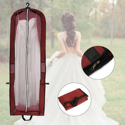 Long Dress Cover Storage Bag For Bridesmaid Bridal Wedding Gown Dress Carrier • 5.75£
