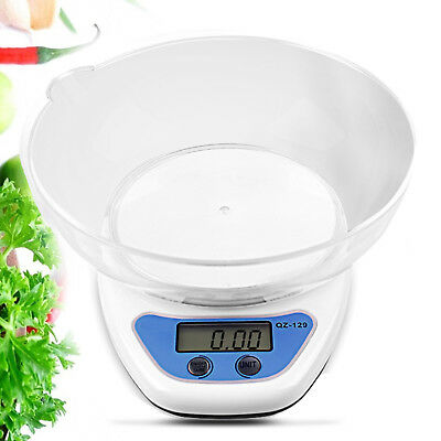5kg Digital Kitchen Scales Lcd Electronic Cooking Food Measuring Bowl Scale Uk • 7.59£