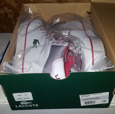 Mens Shoes Lacoste Misano Sport 317 1 CAM Fashion Leather Sneaker White • 57.22£