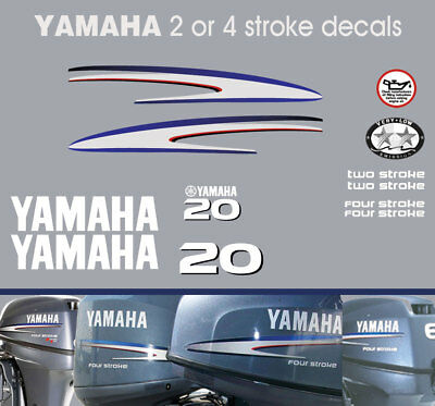 AU40 • Buy YAMAHA 20hp 2 Stroke And 4 Stroke Outboard Decals