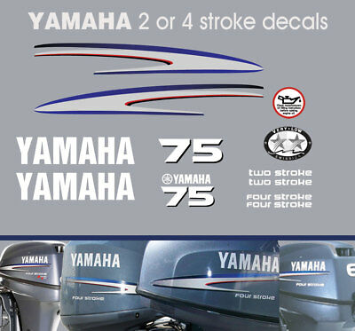 AU72 • Buy YAMAHA 75hp 2 Stroke And 4 Stroke Outboard Decals