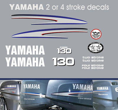 AU95 • Buy YAMAHA 130hp 2 Stroke And 4 Stroke Outboard Decals