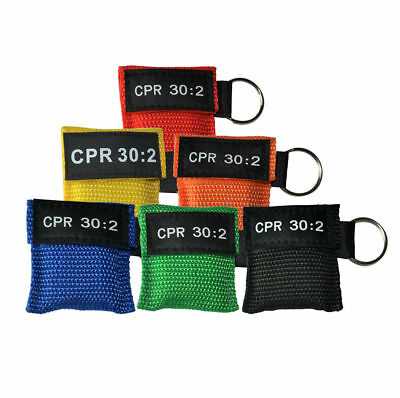 12 Pcs CPR Masks Keychain Face Shield CPR Resuscitation 30:2 Training 6 Colors • 9.95£