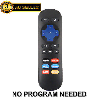 AU12.99 • Buy New Replace IR Remote For Telstra TV & TV2 ROKU 1 2 3 4 With Netflix Youtube Key