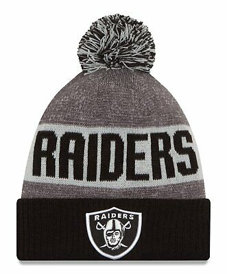 quality design 48e94 94752 Oakland Raiders 2016-17 Players Sideline Sports Knit Beanie Cap Hat NFL New  Era •