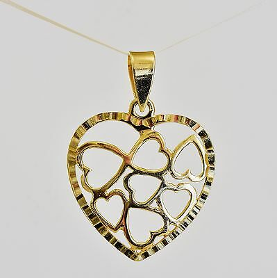 AU75 • Buy 9k Gold Heart Pendant 7 Hearts In One Genuine 9k 375 Gold New