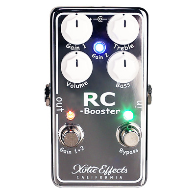Xotic RC Booster V2 Clean Boost Pedal In Chrome Version 2 • 210£
