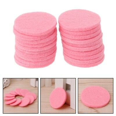 AU8 • Buy 20 X 30mm Round Refill Pads For Car Aromatherapy Essential Oil Locket Diffuser