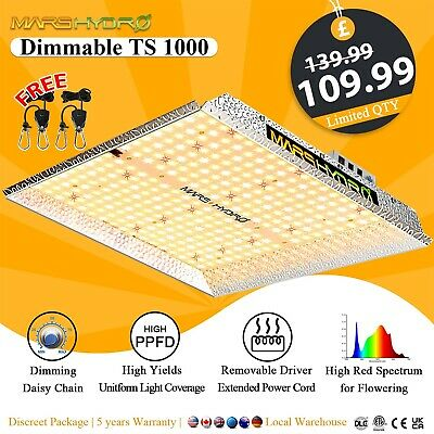 £120.99 • Buy Mars Hydro TS 1000W LED Grow Lights For Indoor Plants Veg Flower Replace HPS HID