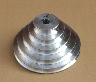 AU39.82 • Buy 1PC 130mm Diameter - 4 Step Pulley 16mm Bore - 5mm Keyway - Cast Aluminum [159A]