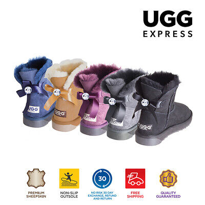 AU40 • Buy UGG Women Boots Bailey Bow Fashion Mini Classic Ugg Boots With Crystal Button