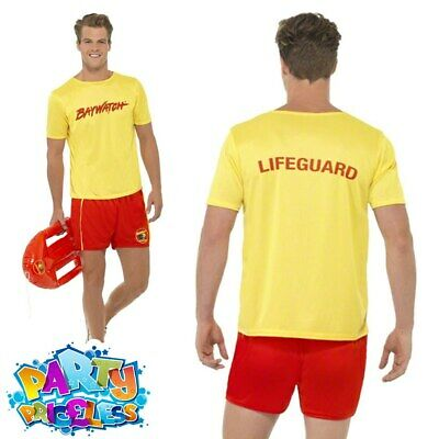 £21.99 • Buy Mens Baywatch Lifeguard Fancy Dress Costume Beach 80s 90s Licensed Official Stag