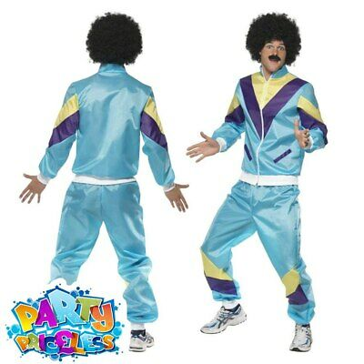 Mens 1980s Shell Suit Height Of Fashion Costume Liverpool Scouser Fancy Dress • 21.99£