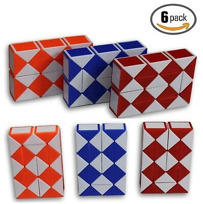 $10.99 • Buy Speed Cube Magic Snake Ruler Twist Puzzle 24 Wedges Twist Toys 6 Pack!