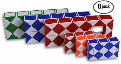 $14.99 • Buy Speed Cube Magic Snake Ruler Twist Puzzle 3 Large And 3 Small Cubes 6 Pack!