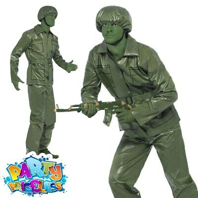 £23.49 • Buy Adults Plastic Army Toy Soldier Fancy Dress Costume Mens Stag Do Outfit Green
