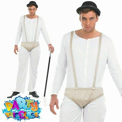Clockwork Orange Costume Male Prisoner Jumpsuit Mens Fancy Dress Outfit + HAT • 19.49£