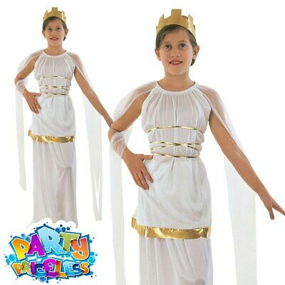 Child Grecian Girls Costume Egyptian Greek Kids Fancy Dress Outfit Book Week Day • 7.99£