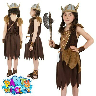 £8.49 • Buy Girls Viking Fancy Dress Costume Childrens Book Day Week Outfit