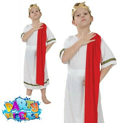 £7.99 • Buy Boys Roman Toga Emperor Fancy Dress Costume Caesar World Book Week Day Outfit