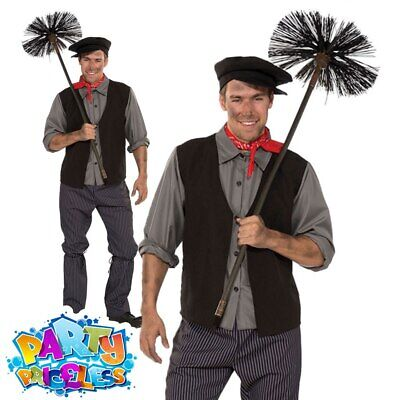 Mens Bert Chimney Sweep Fancy Dress Costume World Book Day Week Outfit • 23.99£