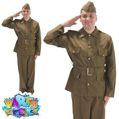 Adult British WW2 Soldier Costume 1940s World War Mens Fancy Dress Outfit New • 29.99£