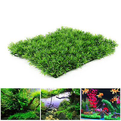 5X Artificial Water Aquatic Green Grass Fish Tank Plant Lawn Aquarium Landscape • 9.49£