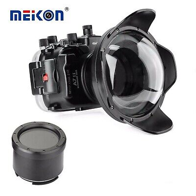 AU465 • Buy Meikon 40M Underwater Camera Housing For Sony A7 II A7R II A7S II W/ Dome Port