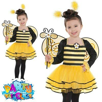 Child Ballerina Bumble Bee Costume Insect Bugs Girls Fancy Dress Kids Outfit • 12.99£