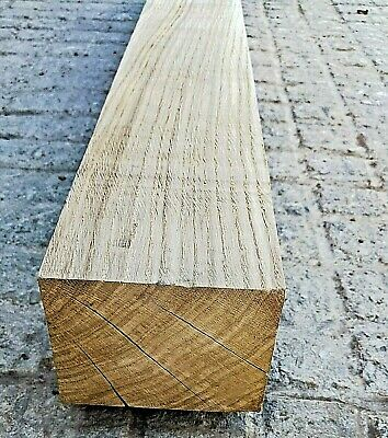 Oak Beam Mantle Piece - 4ft - 4x5  Fireplace Surround - Rough Sawn FREE Delivery • 49.99£