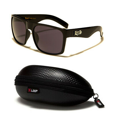 ab29c4ca35 LOCS Original Gangsta Large Shades Sport Men Dark Black Lens Sunglasses  CASE B • 11.99