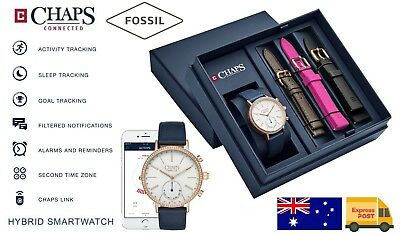 AU98.95 • Buy CHAPS Connected By Fossil Hybrid Smart Watch Ladies Set Activity Tracker Fitness