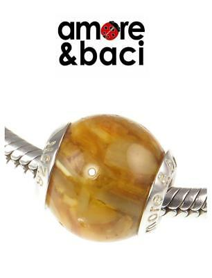 £14.99 • Buy Genuine AMORE & BACI 925 Sterling Silver GOLDEN SHELL MURANO Charm Bead