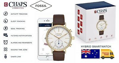AU98.95 • Buy CHAPS By Fossil Hybrid Smart Watch Ladies Activity Health Fitness Sleep Tracker