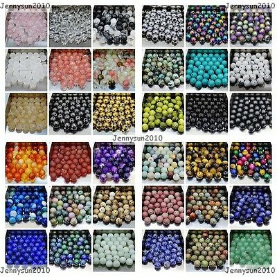 $ CDN7.52 • Buy Wholesale Natural Gemstone Round Spacer Loose Beads 4mm 6mm 8mm 10mm 12mm Pick