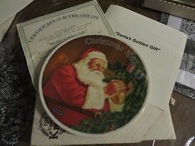 $ CDN6.67 • Buy 1987 Norman Rockwell  Santa's Golden Gift  Collector Plate