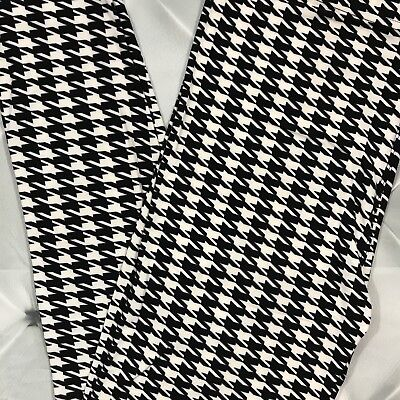 $11.96 • Buy NWT Houndstooth Print Leggings Buttery Soft One Size 2-10 OS Black White S M L