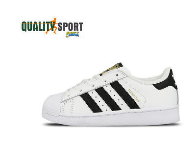 brand new b699c cdd04 Adidas Superstar C Bianco Nero Scarpe Shoes Bambino Sportive Sneakers  BA8378 • 59.99€
