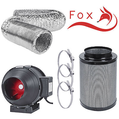£68.99 • Buy Hydroponics Carbon Filter Extractor Fan Kit Set 4 5 6 8 10  Inch + 5m Ducting UK